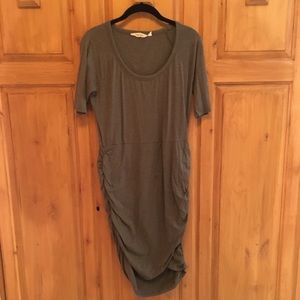 Athleta tee dress with rouching at side hips